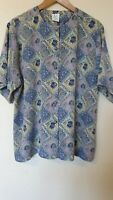 True Vintage Floral Oversized Ornate Button Blouse Top Size 20