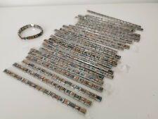 LOT REVENDEUR bijoux N° 308 / 25 bracelets en métal et plaquettes photos émail