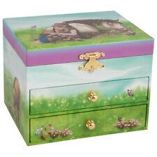 goki Musikspieldose Pferd mit Schubladen Spieluhr Schmuckkästchen für Kinder