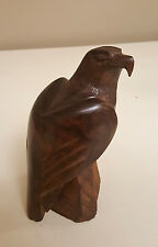 Vintage Cherry Wood Hawk - Gorgeous! - Solid