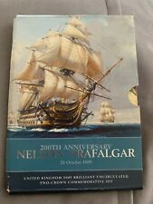 More details for 2005 200th anniversary nelson & trafalgar set uncirculated £5 coins.