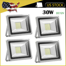 4 x 30W LED Flood Light DC 12V Outdoor Wall Spotlight Landscape Cool White Lamp