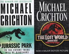 Jurassic Park & The Lost World by Michael Crichton (Paperback) NEW 2 Book SET
