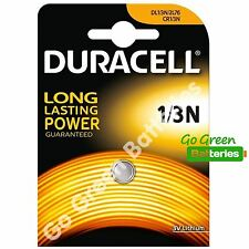 1 x Duracell 1/3N 3V Lithium Batteries DL1/3 N CR1/3N CR1-3N 2L76 - 2024 Expiry