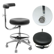 Adjustable Dental Dentist Assistant Stool Chair Mobile Chair Pu Hard Leather New