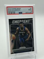 2019-20 Panini Prizm Zion Williamson Emergent Rookie Card PSA 9 - Pelicans