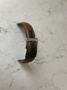 Genuine Raymond Weil Leather Watch Strap - Brown/Tan - 20mm From W1 Series