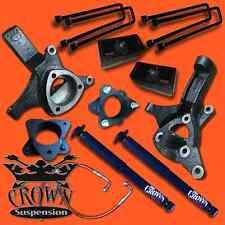 "Crown Suspension 07-17 Sierra 7""-4""  Lift Spindle Strut Spacer Block Shocks Kit"