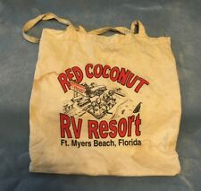 Vintage Red Coconut RV Resort Ft Myers Beach Fl Tote Bag