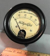 ANTIQUE INDUSTRIAL HOLTZER-CABOT D.C. MILLIAMPERES ELECTRIC METER FIRE ALARM