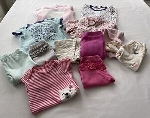 Bundle Lot (12) Pieces Baby Girl size 3-6 Months Variety One-piece Clothing