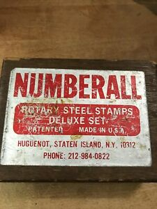 Numberall Rotary Steel Stamps Deluxe Set