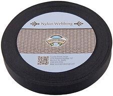 Country Brook Design® 1 Inch Black Lite Weight Nylon Webbing, 10 Yards