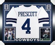 Dak Prescott Autographed Framed White Dallas Cowboys Jersey  JSA Witnessed