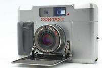 [OPTICAL MINT] CONTAX T Silver Rangefinder 35mm Film Camera Body Only From JAPAN