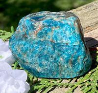 173.4g FINE NATURAL RAW BLUE/GREEN APATITE CRYSTAL HEALING ROCK Reiki  NORWAY