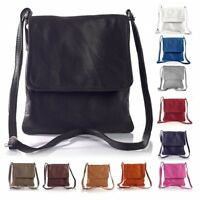 Women's Genuine Italian Soft Leather Small Cross Body Shoulder Messenger Bags
