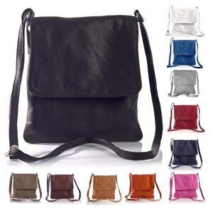 Women's Genuine Italian Soft Leather Small Cross Body Shoulder Messenger Bags