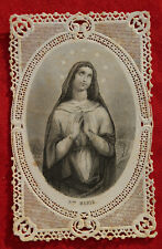 Image pieuse dentelle canivet holy card lace Sainte Marie Fin XIXème
