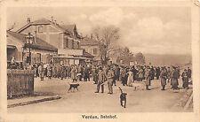 Verdun Bahnhof deutsche Soldaten am Kiosk Westfront Frankreich 1917