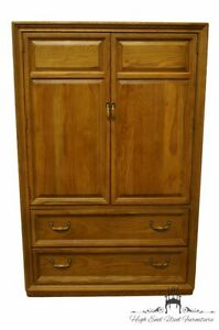 """STANLEY FURNITURE Oak Country French 40"""" Door Chest / Armoire 47913-12"""