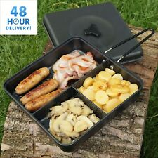 Camping Frying Pan & Lid and Folding Handle Multi Section Cooking Fishing NGT