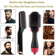 2In1 One Step Hair Dryer and Volumizer Brush Straightening Curling Hairdressing