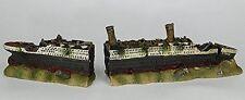 Aquarium Fish Tank Ornament 59cm 2-PART RMS TITANIC shipwreck ruin boat wreck