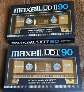 2 x MAXELL UD I TYPE I 90 MINUTE  BLANK CASSETTE TAPES