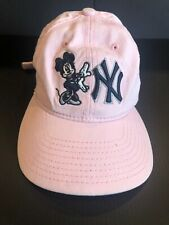 NEW YORK YANKEES MINNIE MOUSE NEW ERA MLB AUTHENTIC CHILDRENS BASEBALL HAT PINK