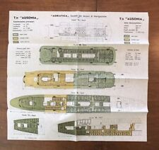 1963 TN Ausonia Color-Coded Deck Plans - Adriatica Lines