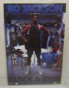 "1989 Bo Jackson NFL MLB Black & Blue 6.5 x 10"" Print"