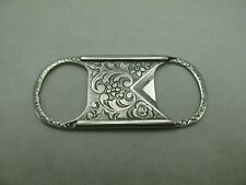 Edwardian Victorian Cigar Cutter Sterling Silver Antique 624E