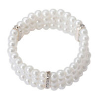 Pearls Corsage Wristlet Stretch Band Wedding Prom Hand Wrist Favors Decor Trend