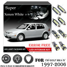 12x For VW GOLF MK4 IV 2000-2006 Xenon White Car Interior LED Light Package Kit