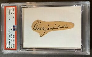 Gabby Hartnett HOF (d.1972) PSA/DNA Signed Cut  Card Autographed Chicago Cubs