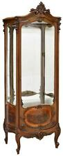 French Vernis Martin Curved Glass Vitrine, early 1900s
