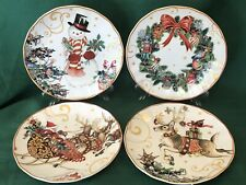 NEW IN BOX~Set of 4 Williams Sonoma TWAS THE NIGHT CHRISTMAS Salad Plates MIXED