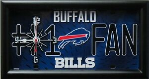 Buffalo Bills NFL License Plate Clock
