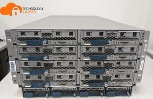 Cisco UCS 5108 Blade Server 8x CISCO B200 M3 16x Xeon CPU 104 Cores 384GB RAM