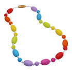 Sensory Chew Necklace for Girls Boys Kids, Silicone Chewy Jewelry Necklace for