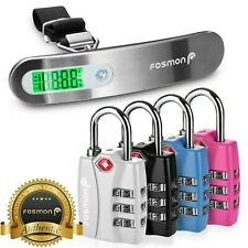 4x TSA Approve Combination Travel Luggage Suitcase Bag Lock Hanging Scale Weight