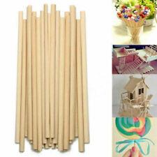 100pcs 150mm Bâton Bâtonnet Stick Bois Rond Maquette Modèle Maison Loisir DIY