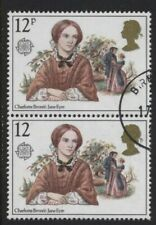 1980 12p FAMOUS AUTHORESSES 'MISSING P' CONSTANT VARIETY SUPERB USED. SG 1125Ea