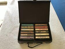 vintage lot of 12 cassette tapes with case ROCK ROLL POP etc