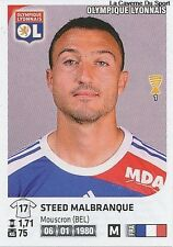 N°186 STEED MALBRANQUE OLYMPIQUE LYONNAIS OL VIGNETTE STICKER  PANINI FOOT 2013