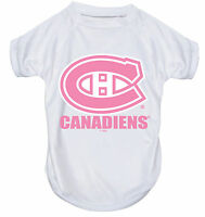 NEW MONTREAL CANADIENS PET DOG PINK PERFORMANCE T-SHIRT ACTIVE TEE ALL SIZES
