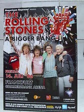 ROLLING STONES  2006 FRANKFURT + orig. Concert Poster - Konzert Plakat  A1 NEU