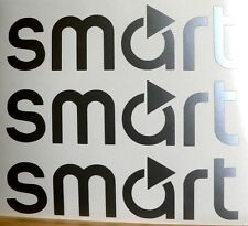 Kit 3 adesivi silver Smart auto vetro fortwo forfour brabus 3 stickers decals