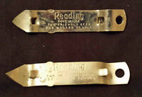 1940s READING PREMIUM THE FRIENDLY BEER FOR MODERN PEOPLE BEER CAN BOTTLE OPENER